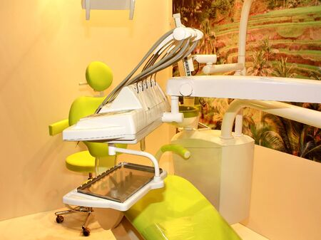 Items of equipment for the workplace of dentist doctor
