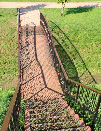 Black metal staircase to the viewing platform Stock Photo - 13615203