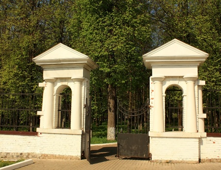 nineteenth: Entrance to the mansion park of the nineteenth century