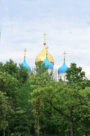 seventeenth: Domes of the Temple of the Holy Virgin Novospassky monastery built in the seventeenth century, Moscow