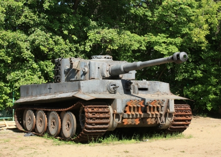 German battle tank from World War II