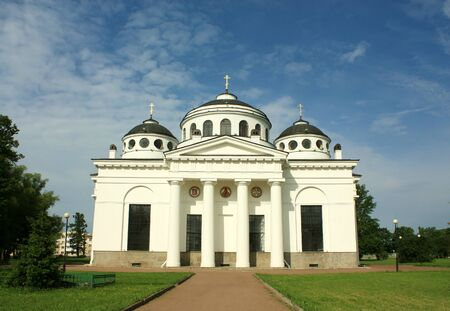 eighteenth: Sophia Cathedral in Tsarskoe Selo, built by the architect Cameron in the late eighteenth century Stock Photo