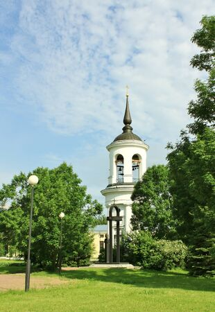 iuml: Belfry of the Sophia Cathedral in Tsarskoe Selo, built by the architect Cameron in the late eighteenth century Stock Photo