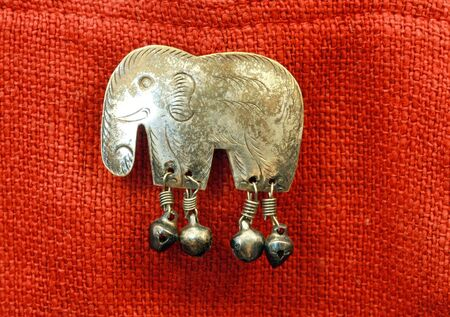 couching: Copper figure of elephant Stock Photo