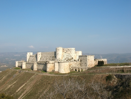 Fortress of Krak des Chevaliers in the Middle East was an outpost against Muslims Editorial