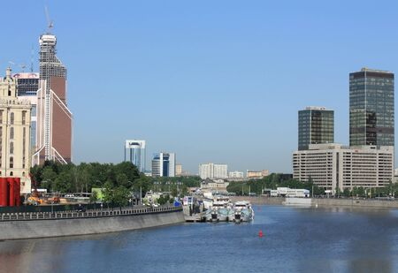 Embankments of Moscow River