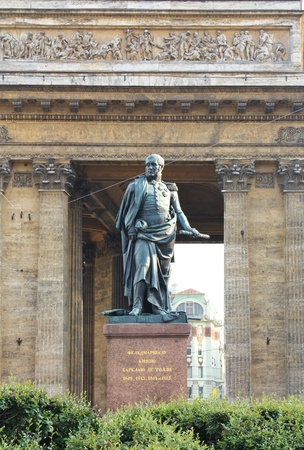 Monument to the grate commander and hero of the Patriotic War Barclay de Tolly in St  PetersburgKazan Cathedral in St  Petersburg is an architectural monument of Russian classicism  Built in 1801-1811