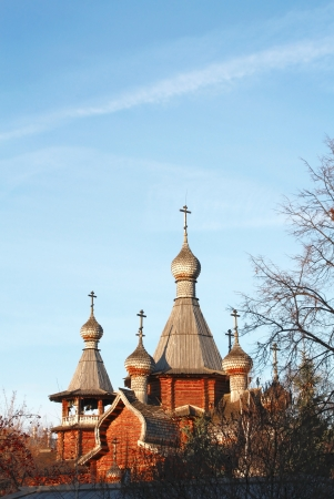 seventeenth: Church re-established on samples of Russian wooden architecture of the seventeenth century Stock Photo