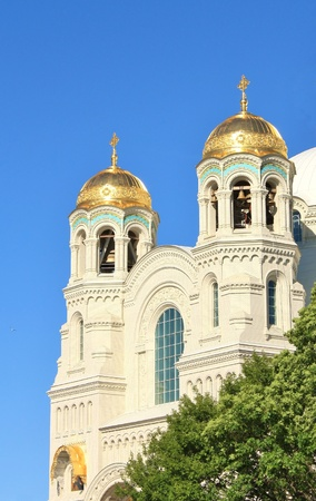 majolica: Orthodox Cathedral  Located in Kronstadt, built in 1913 by architect V  Kosyakov