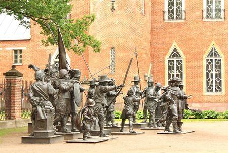 statuary: Metallic statuary in the Catherine Park of Tsarskoye Selo  Russia