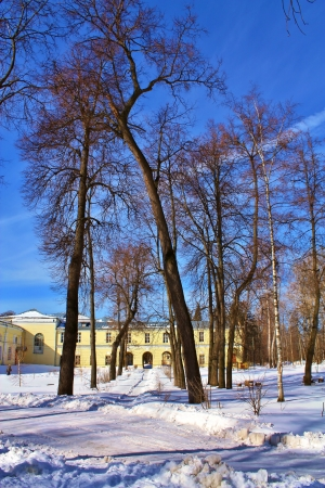 Fragment of the old manor of the nineteenth century near Moscow