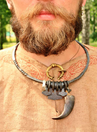 Metal decorations of the Slavic medieval warrior