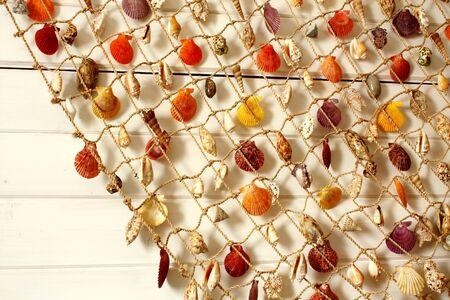 Souvenir of Montenegro - sea shells on a fishing net