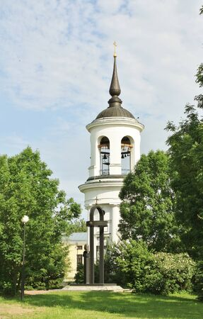 Belfry of the Sophia Cathedral in Tsarskoe Selo, built by the architect Cameron in the late eighteenth century Stock Photo