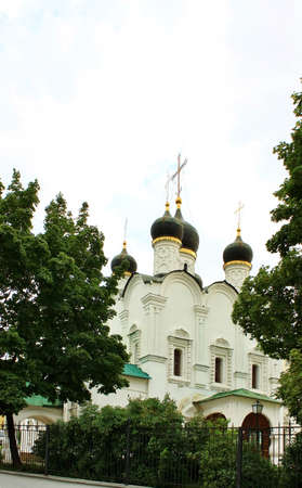 Domes of the church  by the monastery of John the Baptist in Moscow