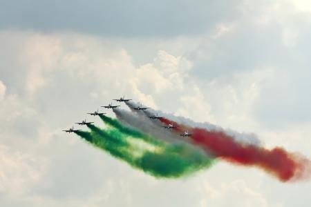 tricolour: Frecce Tricolori  Italian, literally Tricolour Arrows , is the aerobatic demonstration team of the Italian Aeronautica Militare