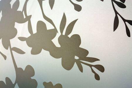 figuras abstractas: Imagen de figuras abstractas en vidrio opaco Foto de archivo
