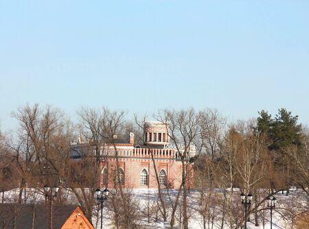 Palacio y un puente del siglo XVIII en invierno Foto de archivo - 18080300