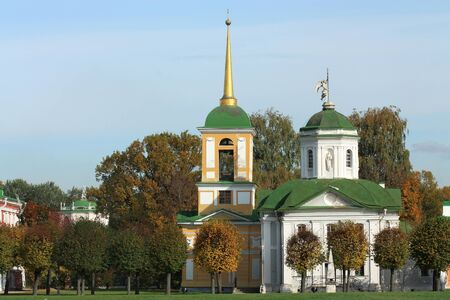 Kuskovo Estate  View of the palace church with a bell tower Kuskovo Estate is architectural and artistic ensemble of the XVIII century  Located in the east of Moscow