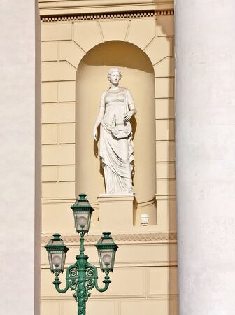 Sculpture by the entrance of the Bolshoi Theatre of Opera and Ballet in Moscow Stock Photo - 18306547