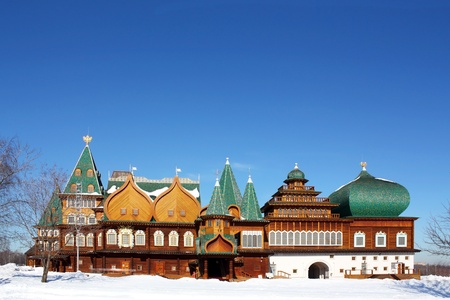 seventeenth: Wooden palace of the seventeenth century with pinnacles of the old Russian style