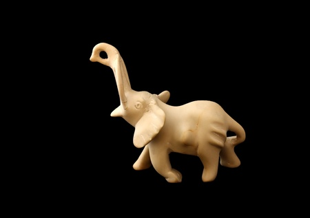 soapstone: Souvenir from Africa in the form of an elephant made of talc-schist also known as soapstone Stock Photo