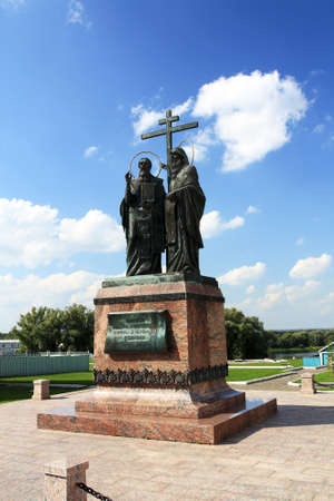 founders: Cyril and Methodius are founders of slavic literature  The monument was erected in the Kolomna Kremlin
