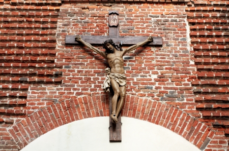 assumption: Crucifix at the entrance to the Armenian Cathedral of the Assumption of the Blessed Virgin Mary