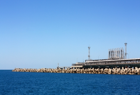 Facility for the oil and chemical  products of marine cargo port terminal photo