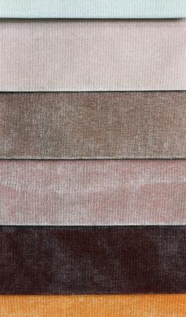 matter: Lagen van verschillende kleuren van de stof worden blootgesteld aan reclame