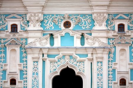 Orthodox cathedrals wall with bas-relief and spiritual symbols Stock Photo - 25113767