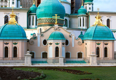 seventeenth: New Jerusalem monastery, Resurrection Cathedral of the seventeenth century on restoration Stock Photo