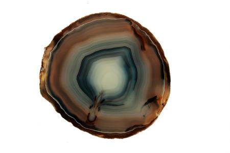 chalcedony: Cut calcedonio esponendo strati di colori diversi