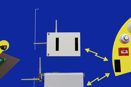 security technology:  Radio equipment to work with the radio channel detectors (security, fire and technology), control devices, actuators