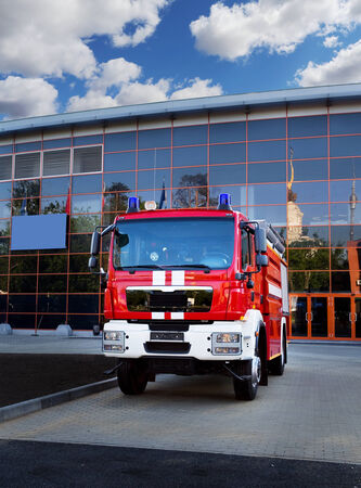 emergency vehicle: Emergency vehicle based on car chassis equipped with fire and other technical equipment