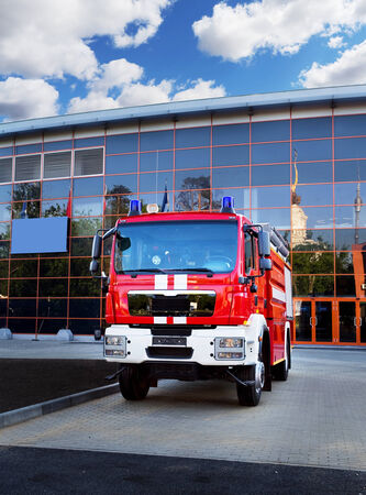 chassis: Emergency vehicle based on car chassis equipped with fire and other technical equipment