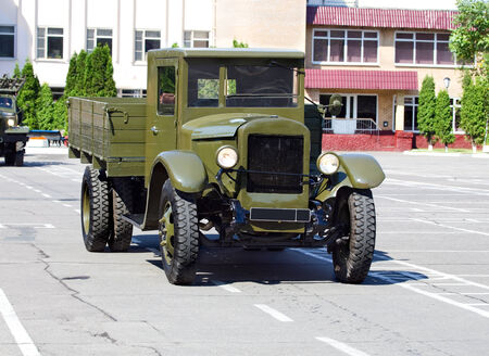 Military truck of the old model