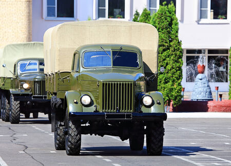Military  kargo truck of the old model