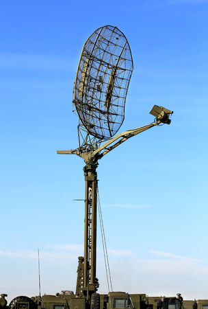 airwaves: Antenna for a military field radio communication line on the mast