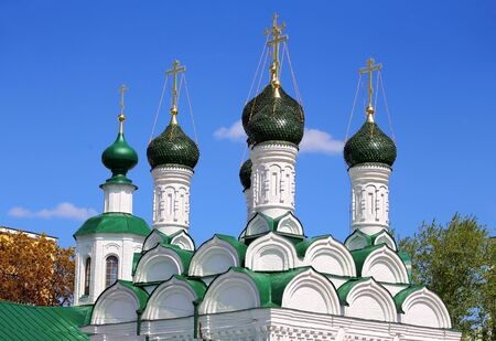 sixteenth: Domes of the orthodox temple built in sixteenth century in Moscow