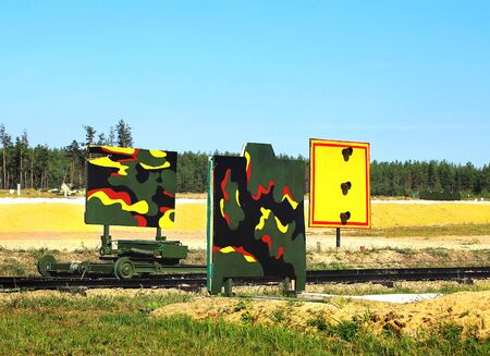 speed gun: Targets for shooting from small arms at the shooting range