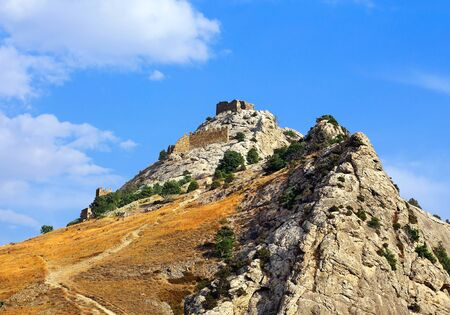 seventh: View of the ancient citadel of the seventh century on a hill
