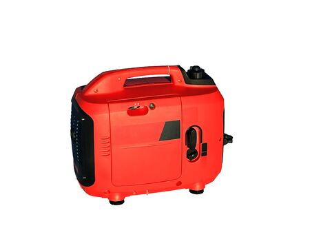 self contained: Compact self-contained power plants for the production of electrical energy in a red plastic case