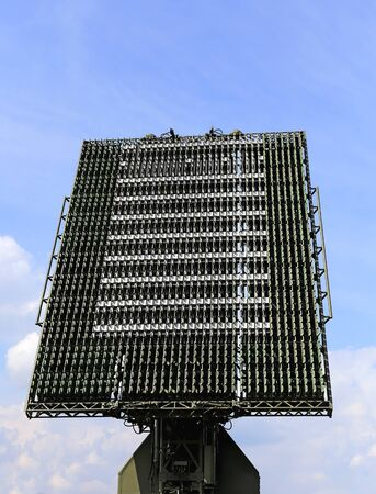 array: All-around antenna of the air defence compex, made of phased array technology, on a rotating platform