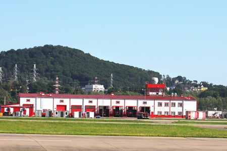 Airfield fire protection facility, which houses the premises for the storage of fire fighting equipment and its maintenance, office space for accommodation of personnel, technical and auxiliary facilities required for the performance of fire protection ta