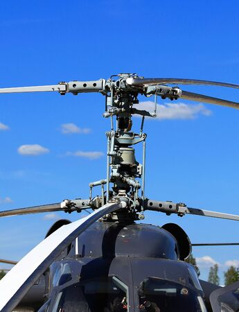 rotor: Helicopter rotor with  a mast, hub and rotor blades