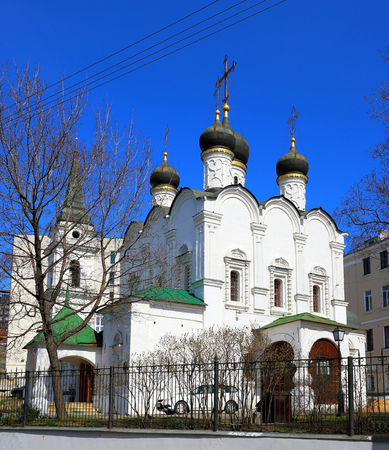 sacred trinity: Temple of the Holy Prince Vladimir in the Old Gardens - Orthodox church of the Epiphany in Moscow