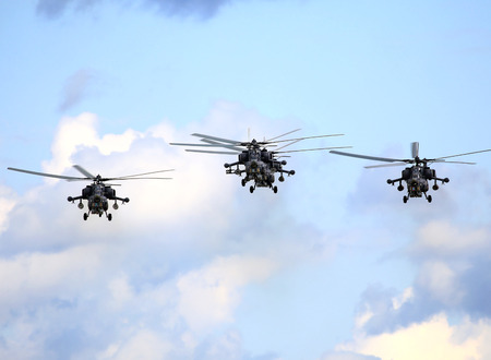 aircrew: Perform  flight by the modern russian attack helicopter Mi 28