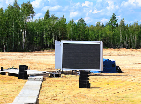 led display: Mobile outdoor LED display screen  for information support of the concert and other events