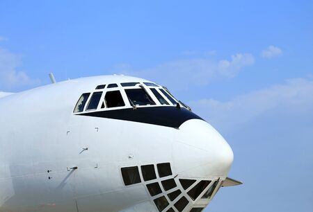 il: Cockpit of the large cargo aircraft ?Il 76? Stock Photo